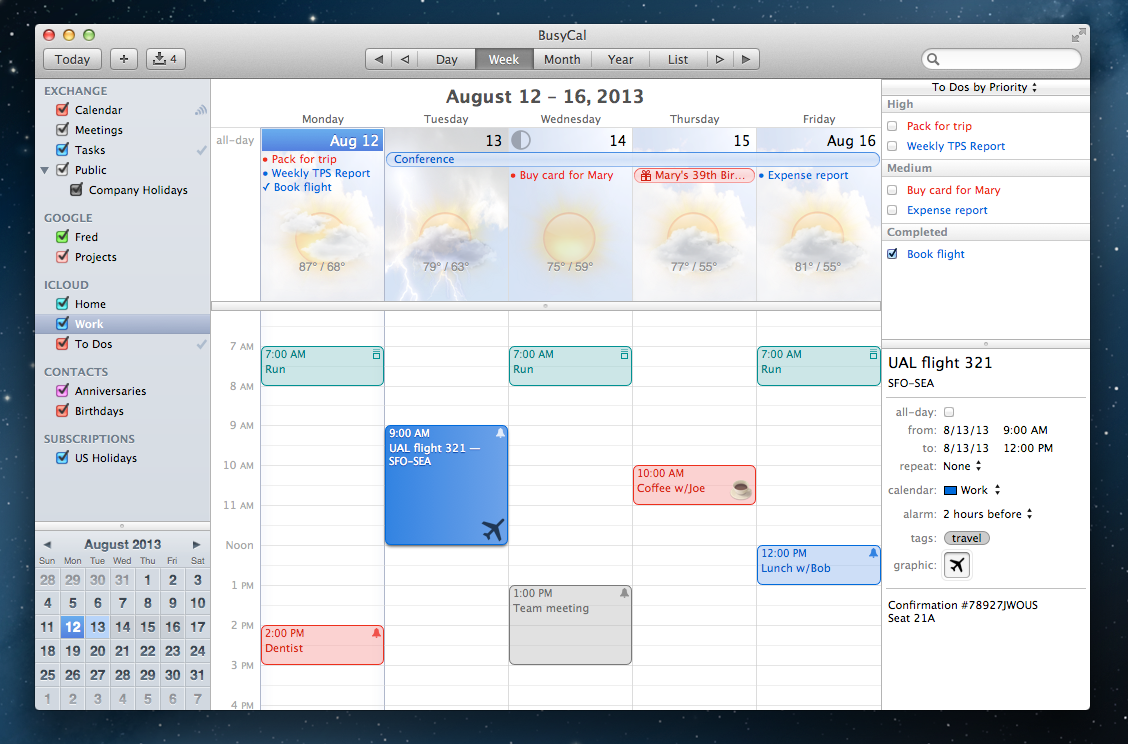Weekly Calendar App Mac : Indispensable apps business jet traveler