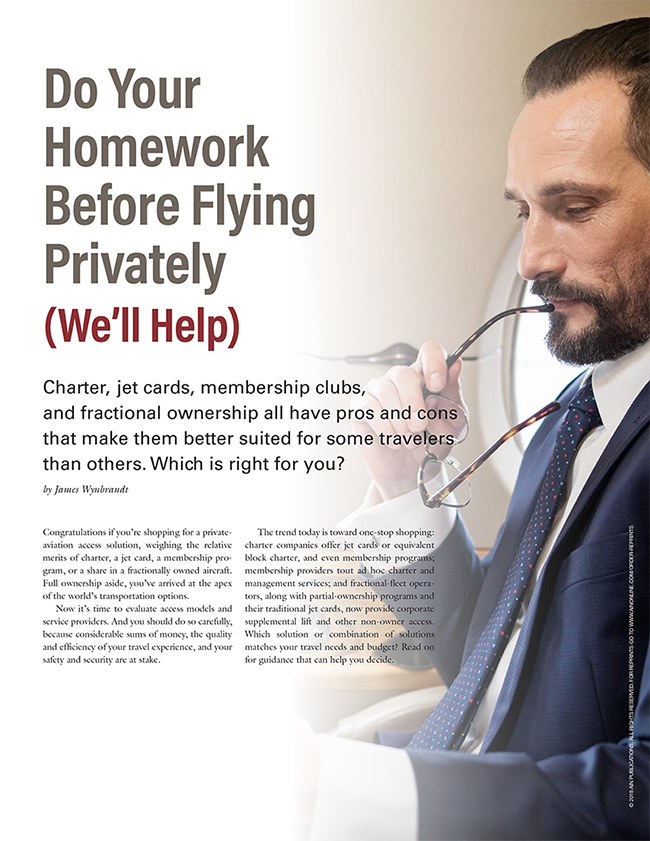 Do Your Homework Before Flying Privately (We'll Help)