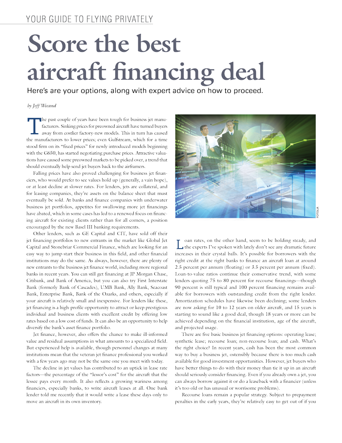 Score the Best Aircraft Financing Deal