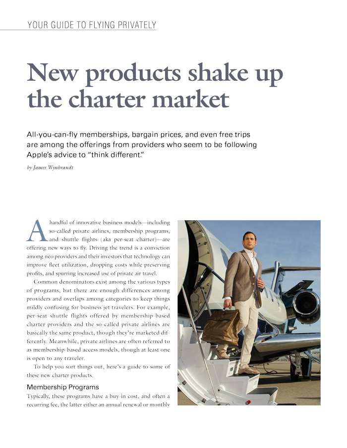 New products shake up the charter market