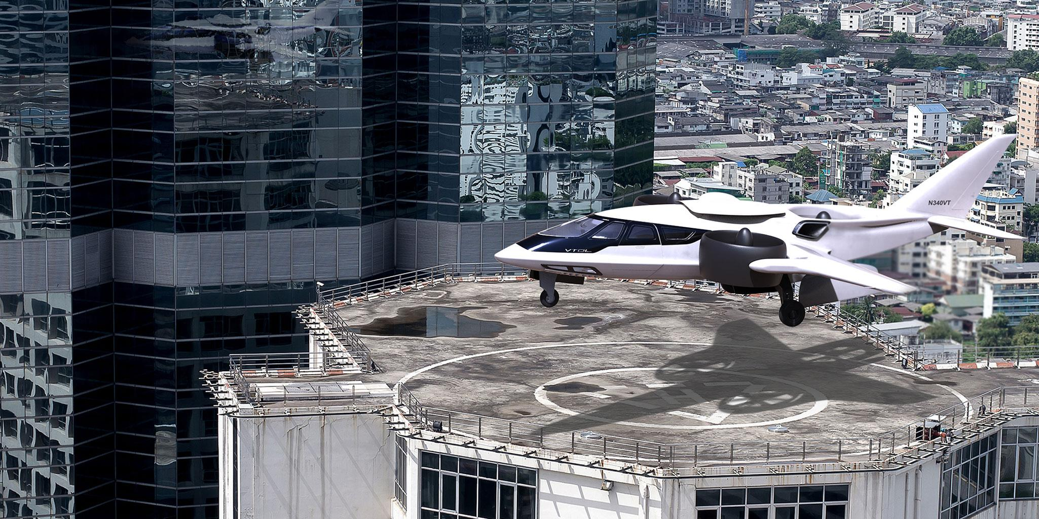 aircraft on rooftop