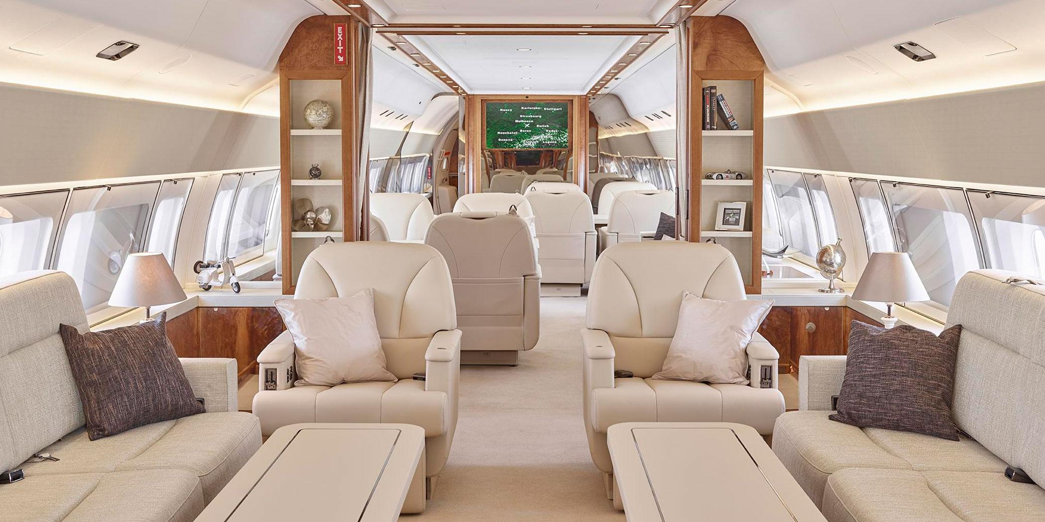 Interior Boeing BBJ (Photo; Jet Aviation)