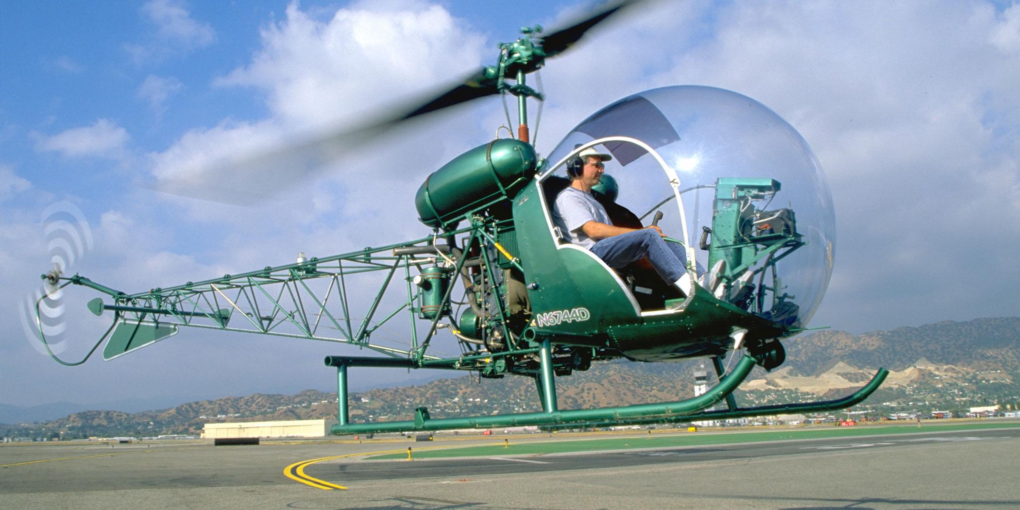 Flying a Bell 47