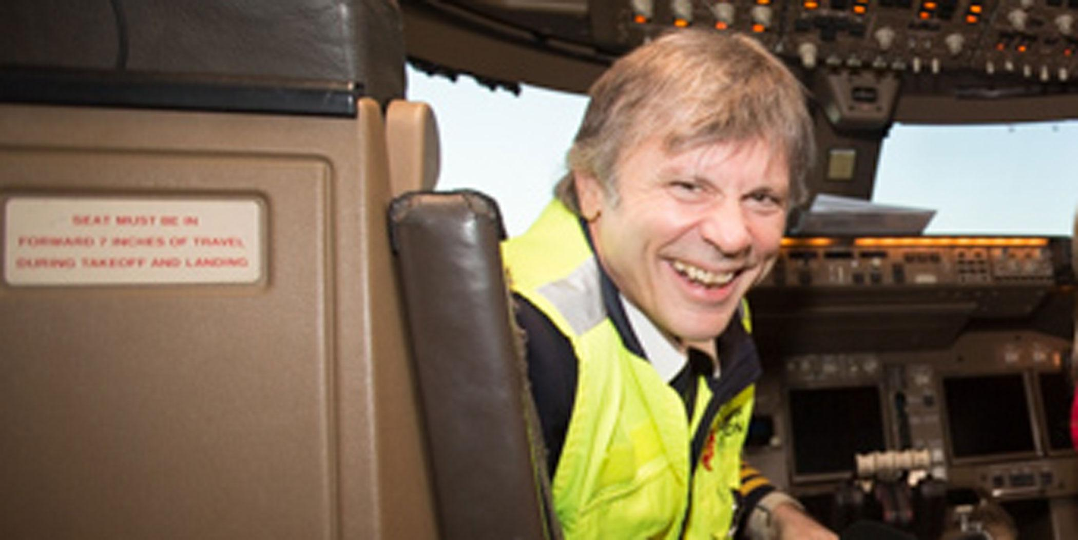Bruce Dickinson, rock star (Iron Maiden) and pilot (Photo: Carol Moir)