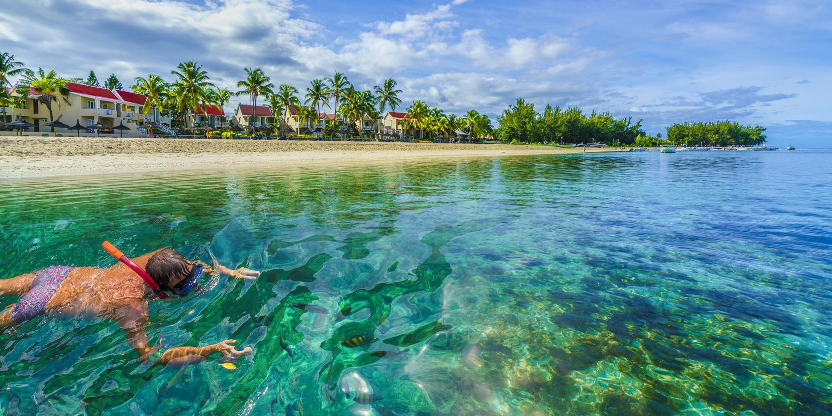 Calm waters in the north and west are well suited to snorkeling.