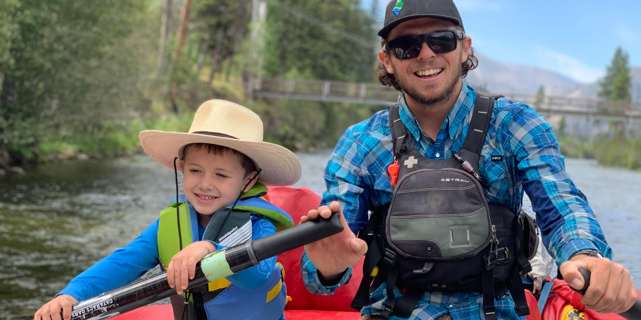 David Cline and his son, Charlie.