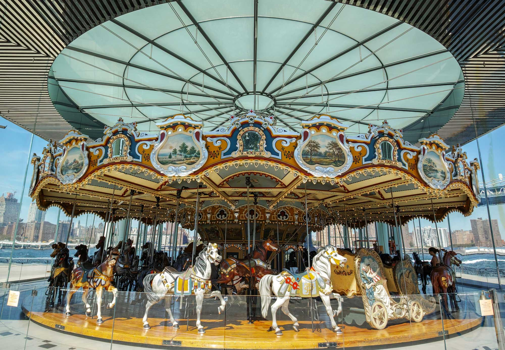 Santa Monica Pier Carousel A Century Old Looff Hippodrome Thats On The National Historic Register No Longer Houses Charles ID