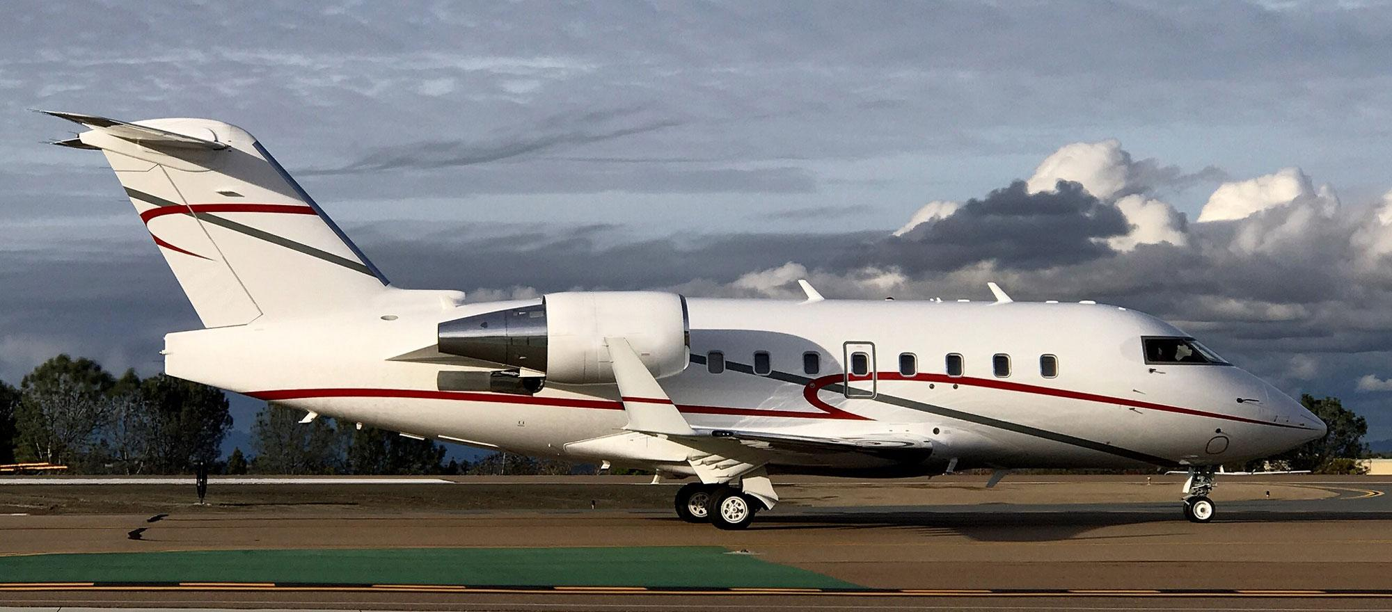 Dr. Hariri's current jet is a tricked out Challenger 604 XT.