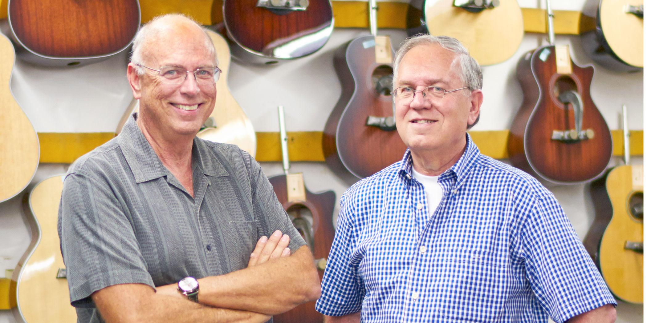 Bob Taylor and Kurt Listug, Taylor Guitars owners Photo: Jeff Berlin