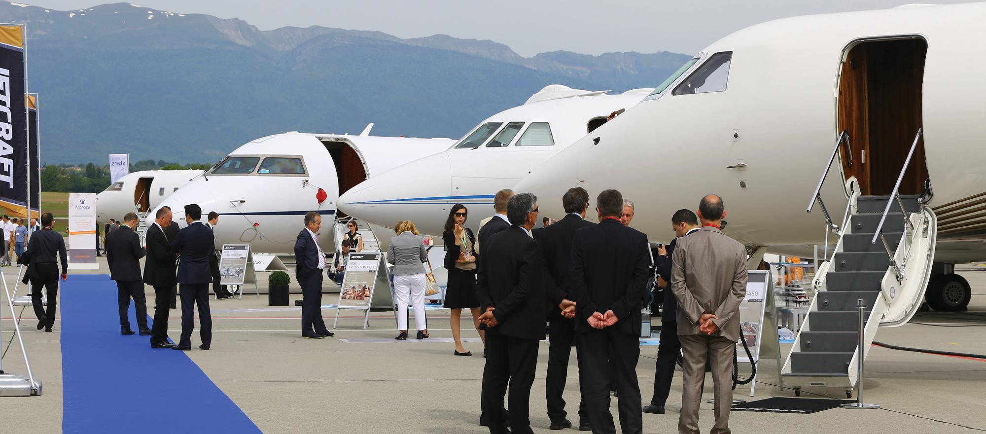 Business jet static display. Photo: David McIntosh