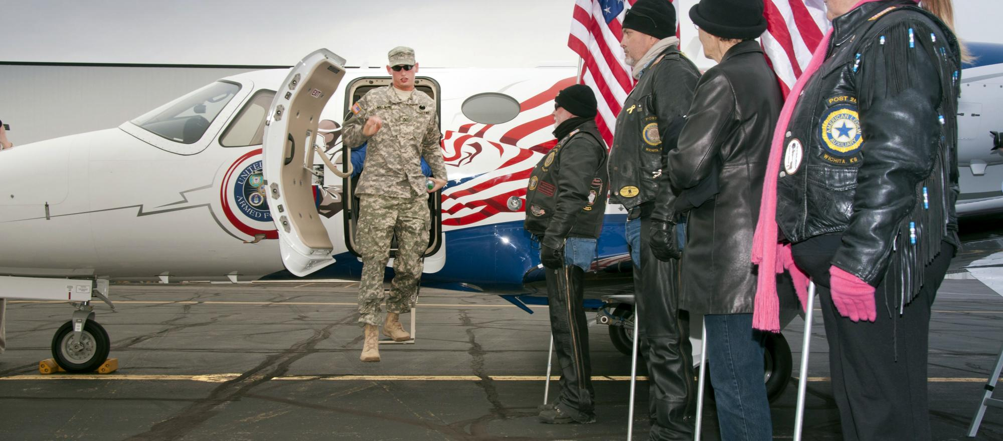 Cessna's third Veterans Airlift Command mission