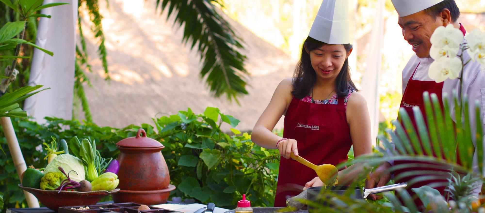 At the Furama Villas & Spa Ubud, Bali executive chef, Wayan Sugata, begins his teaching at the local market. PHOTO: FURAMA VILLAS & SPA UBUD, BALI