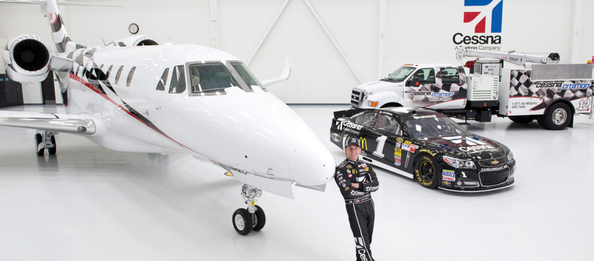 Jamie McMurray, NASCAR Driver in front of the Citation X