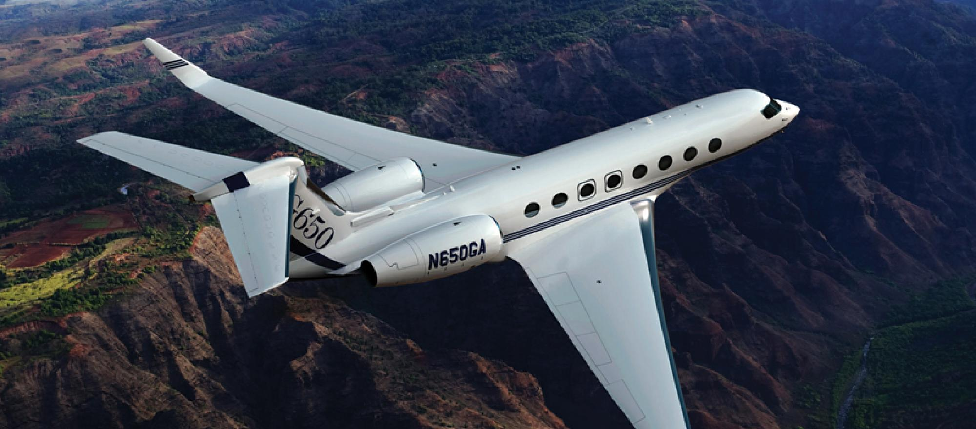 Gulfstream g650 business jet traveler for Large cabin business jets