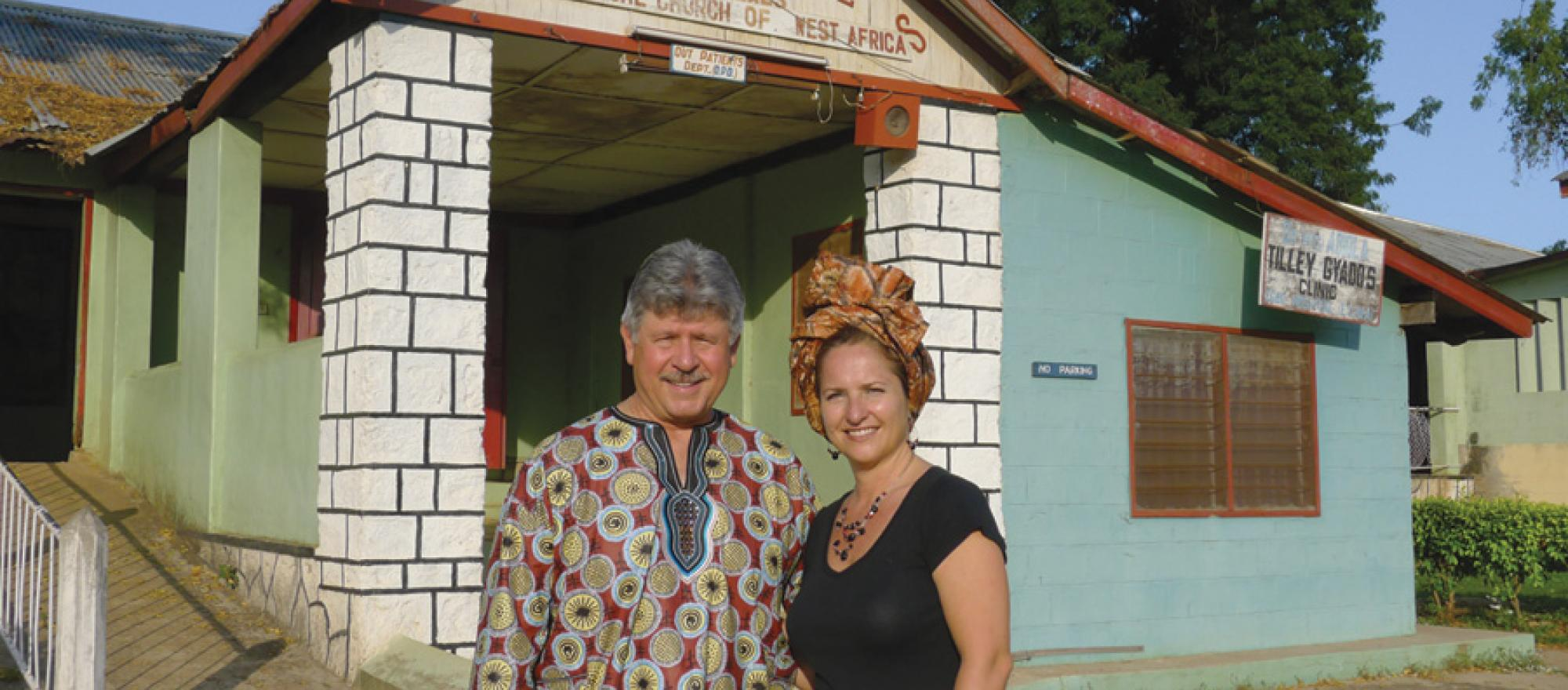 Don Campion, founder and president of Banyan  Air Service, and his wife Sueanne are working in  partnership with Samaritan's Purse to revitalize  the Egbe Hospital complex in Nigeria.