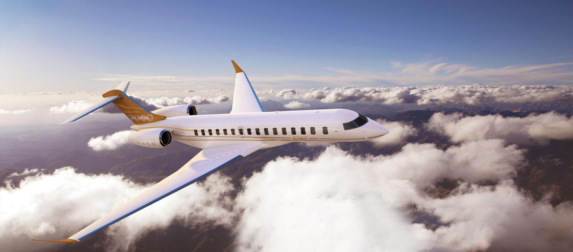Global 7000 in flight