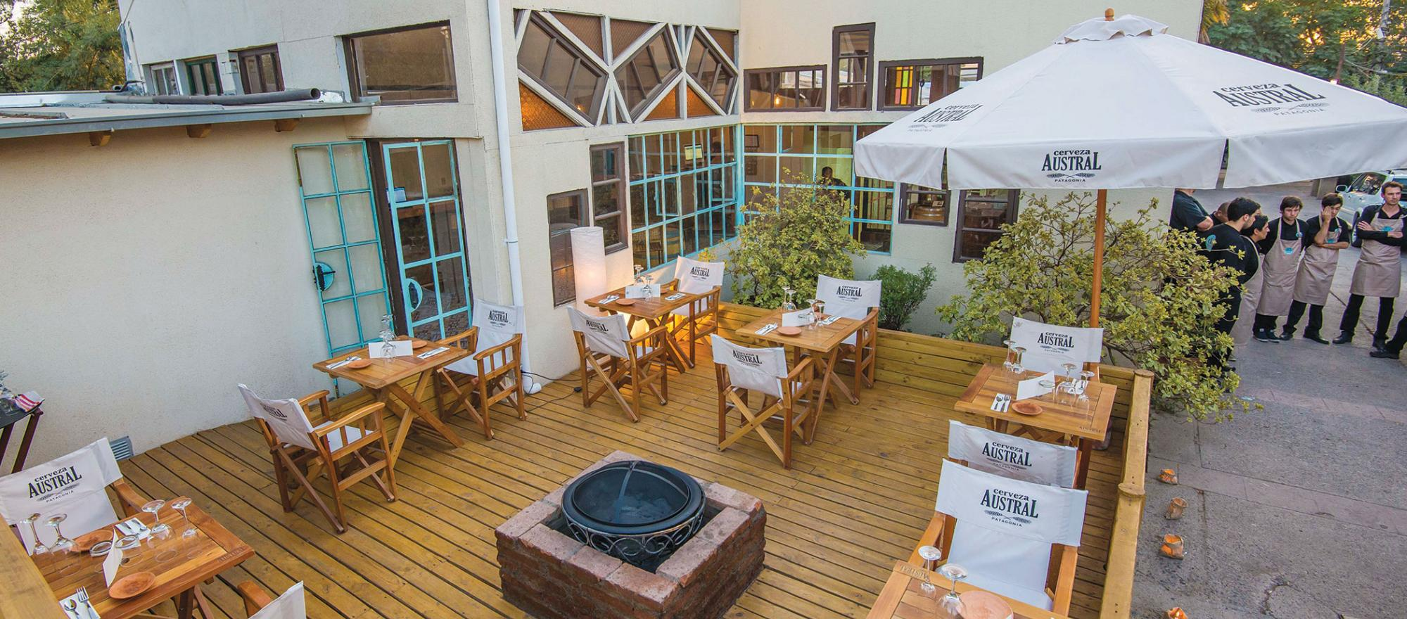 You can dine indoors or out at Santiago, Chile's D.O. Restorán, whose menu reports the source of every fish, piece of meat and vegetable. (PHOTO: Diego Varas)