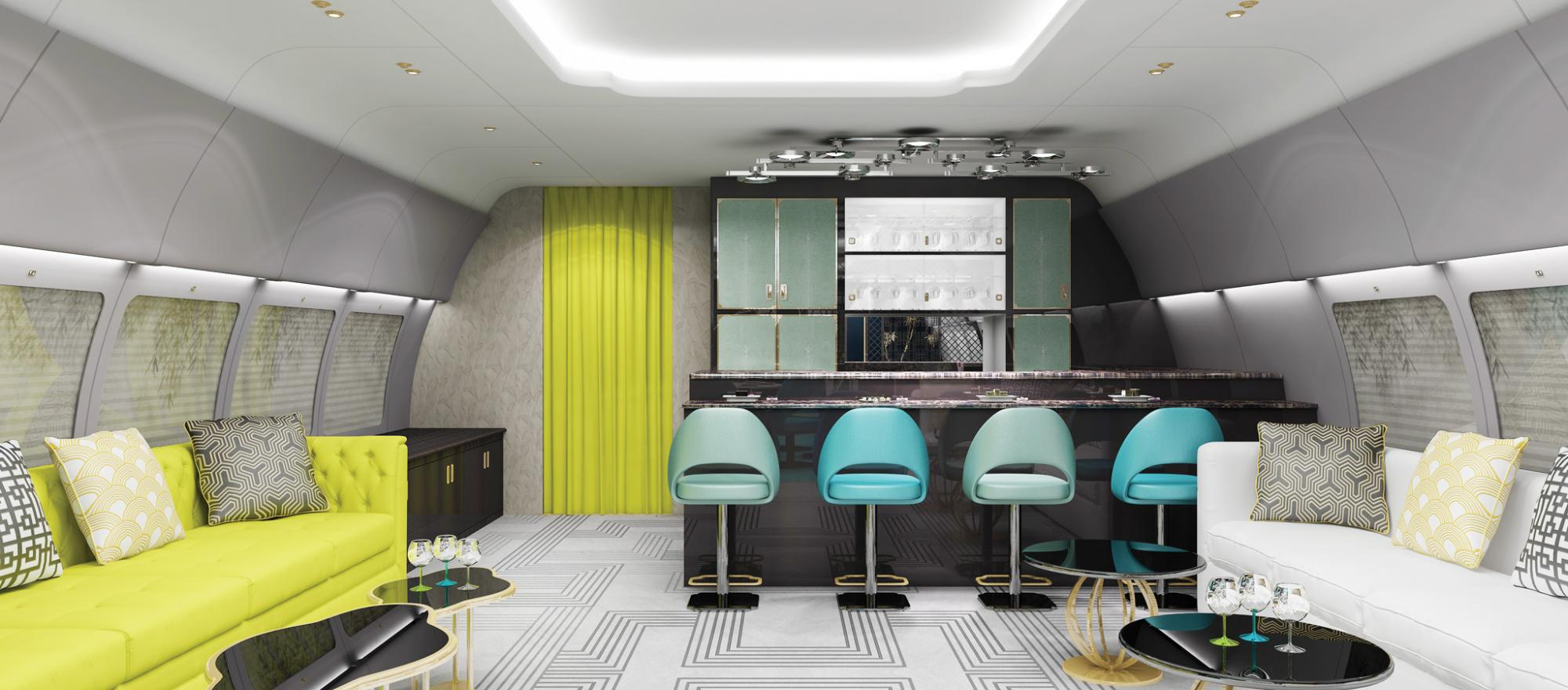 Haeco Aircraft Engineering has created this cabin with a sushi bar.