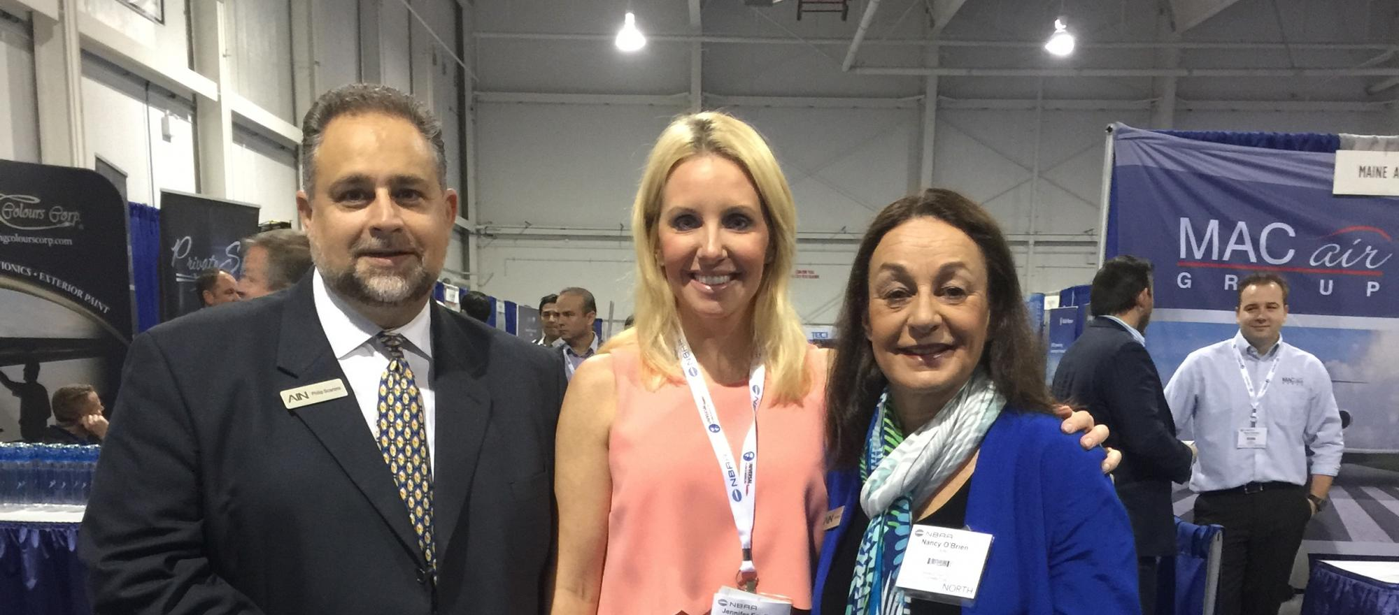 BJT editorial director Jennifer English along with director of events Philip Scarano and associate publisher Nancy O'Brien