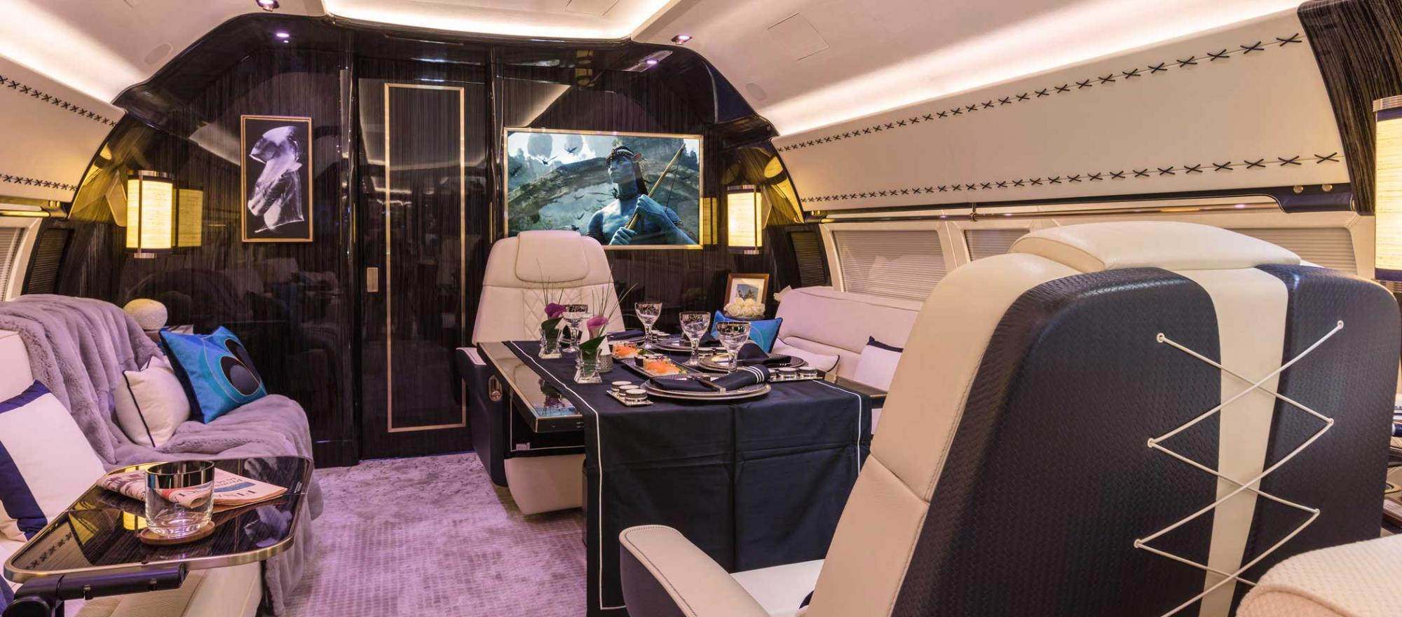 BBJ interior by Winch Design