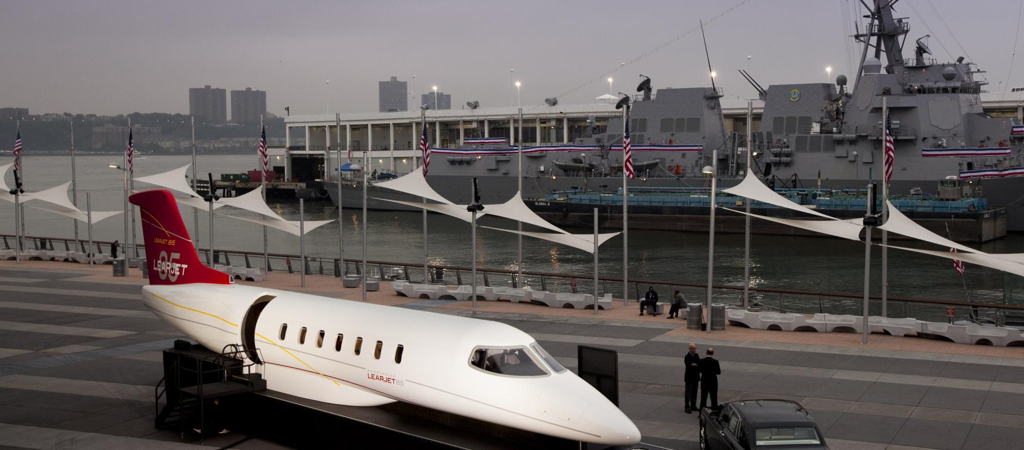 Learjet 85 Unveiled at Intrepid Museum in New York City Photo Credit:  Jason Tinacci