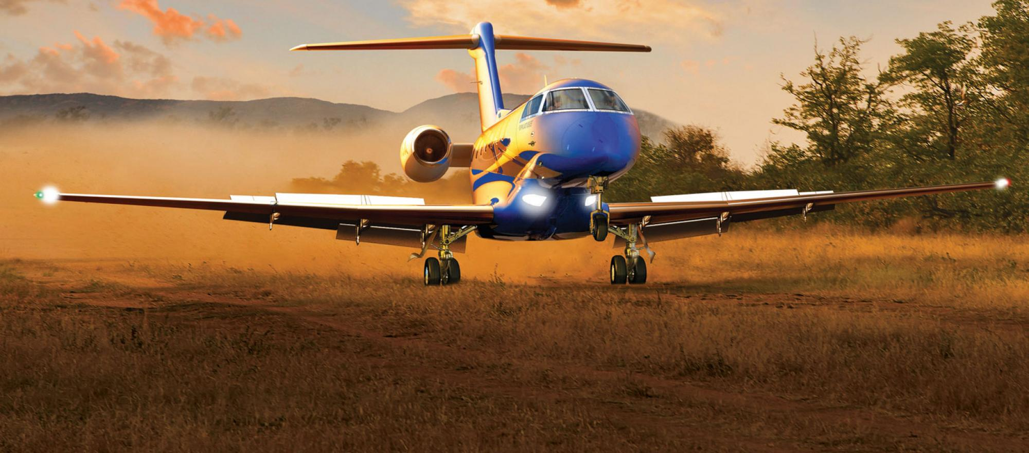 New aircraft preview pilatus pc 24 business jet traveler a computer generated image of the pilatus pc 24 illustrates the sort of places in which the new utility jet will be able to operate fandeluxe Image collections
