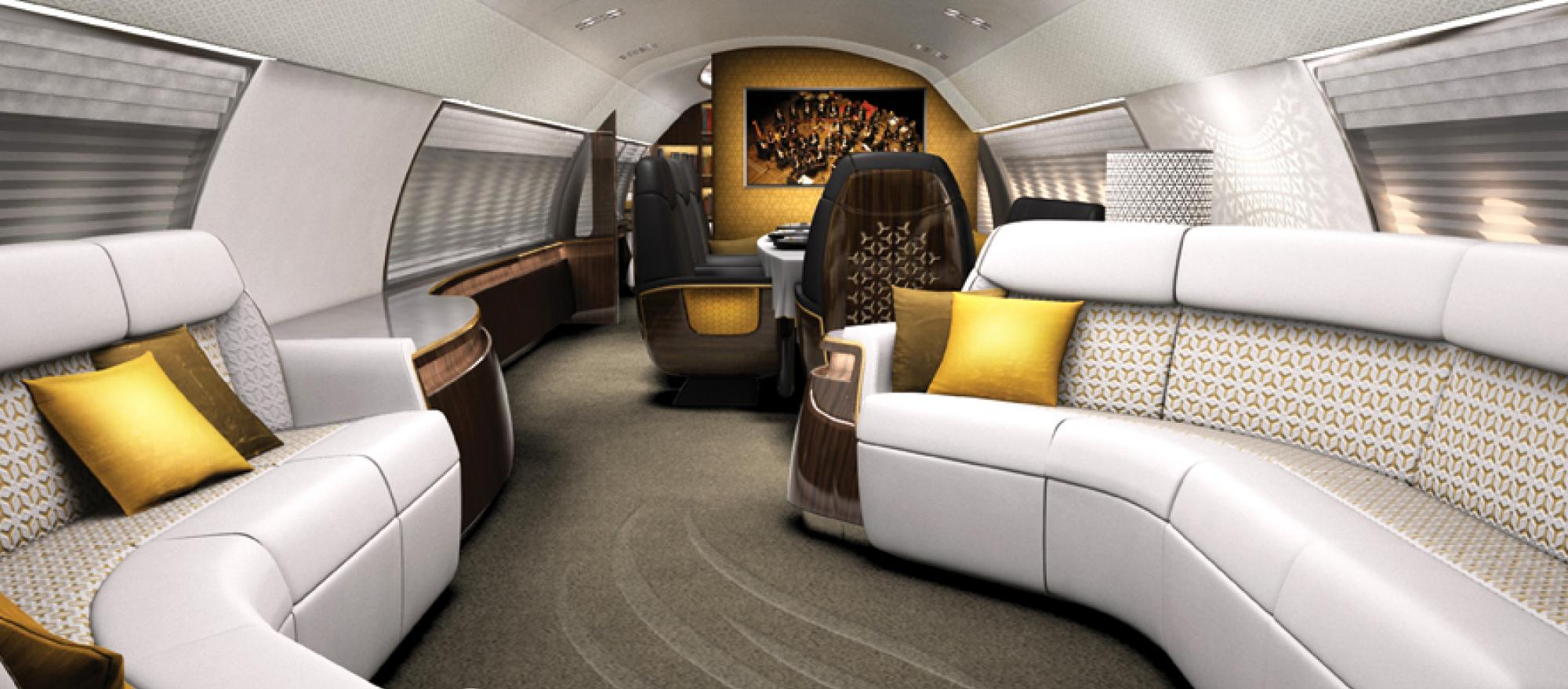 The latest Avro Business Jet (ABJ) executive version of the Avro RJ regional