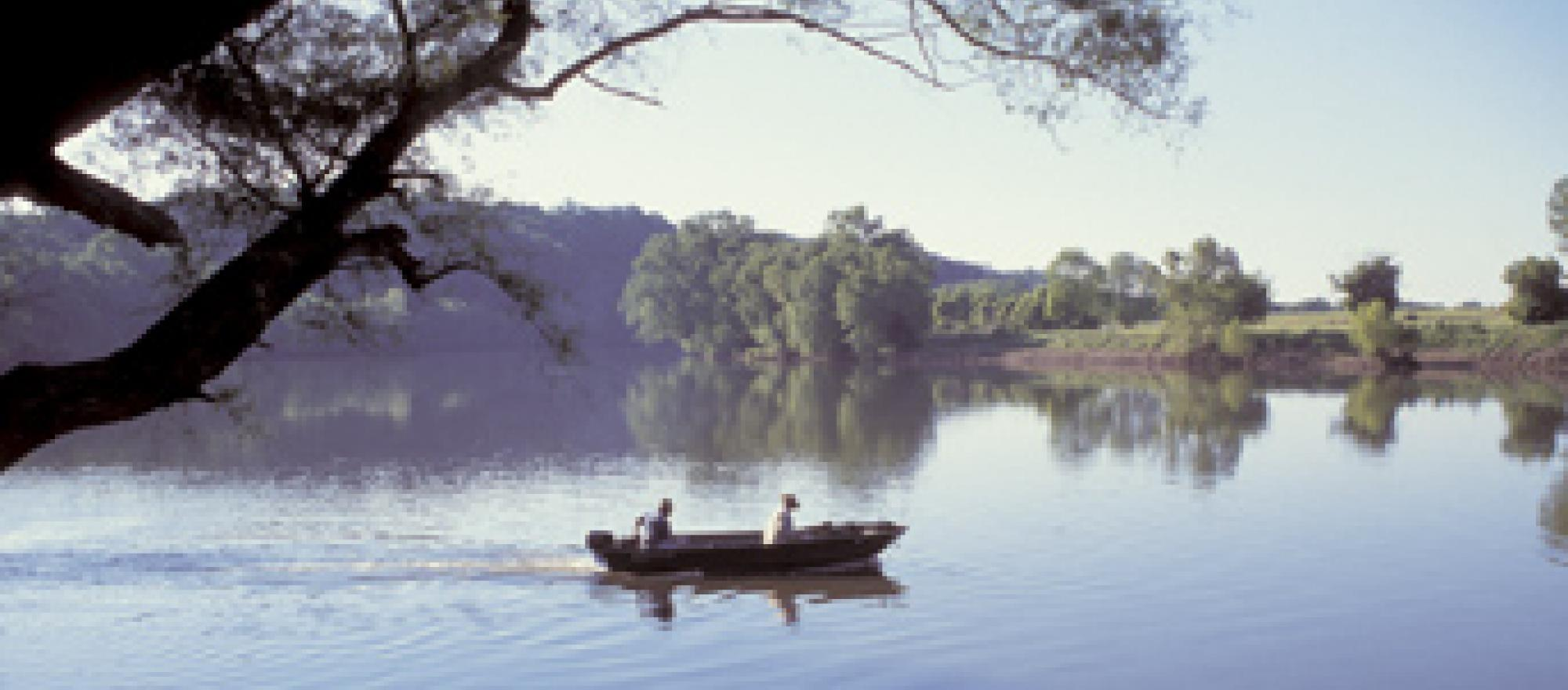 You'll find lots of fishing, canoeing, and kayaking possibilities on the Jame