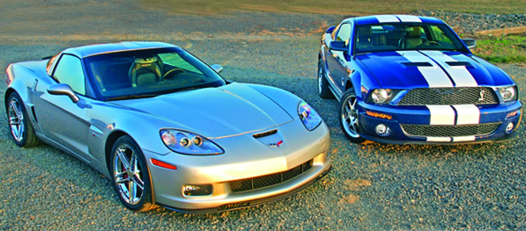 The Chevrolet Corvette Z06 and the Ford Shelby GT500 Cobra