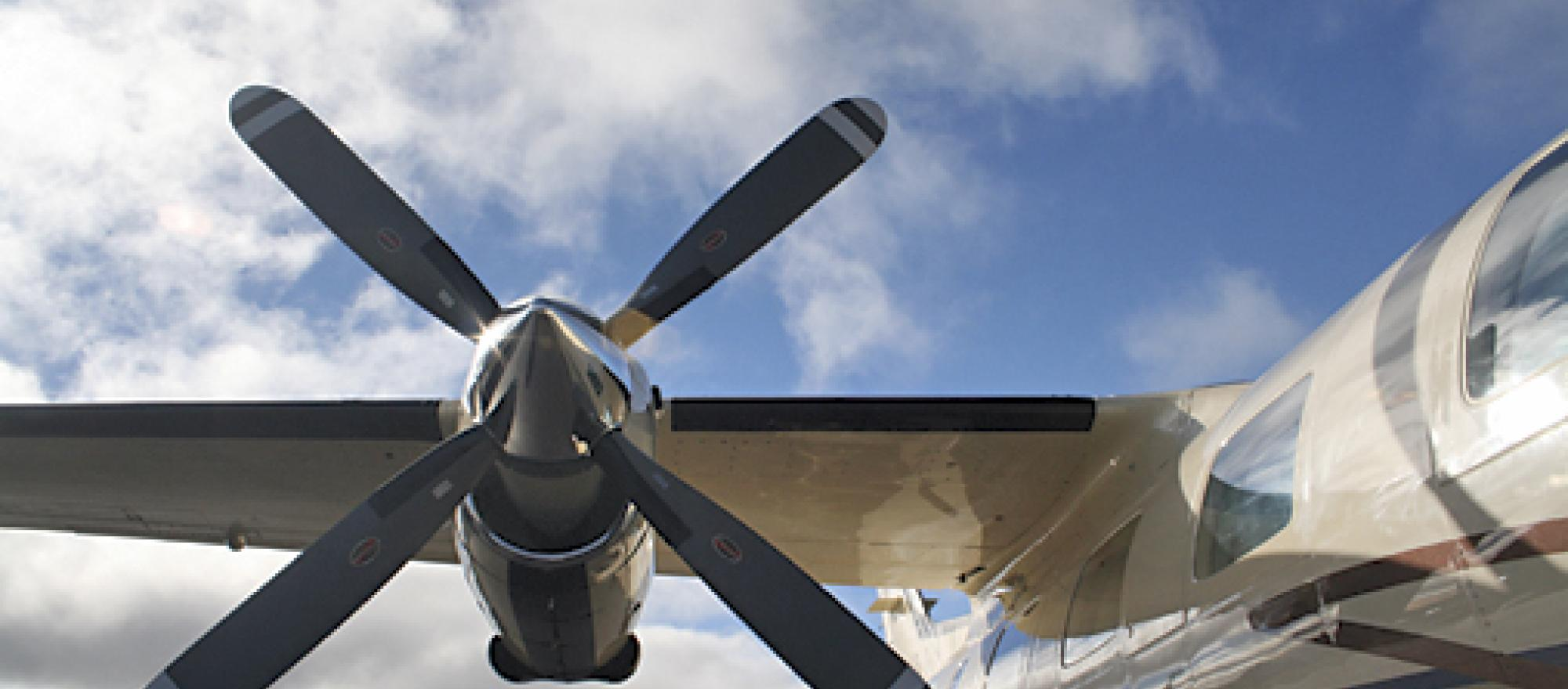 The position of the propellers on the MU-2 means that passengers will notice