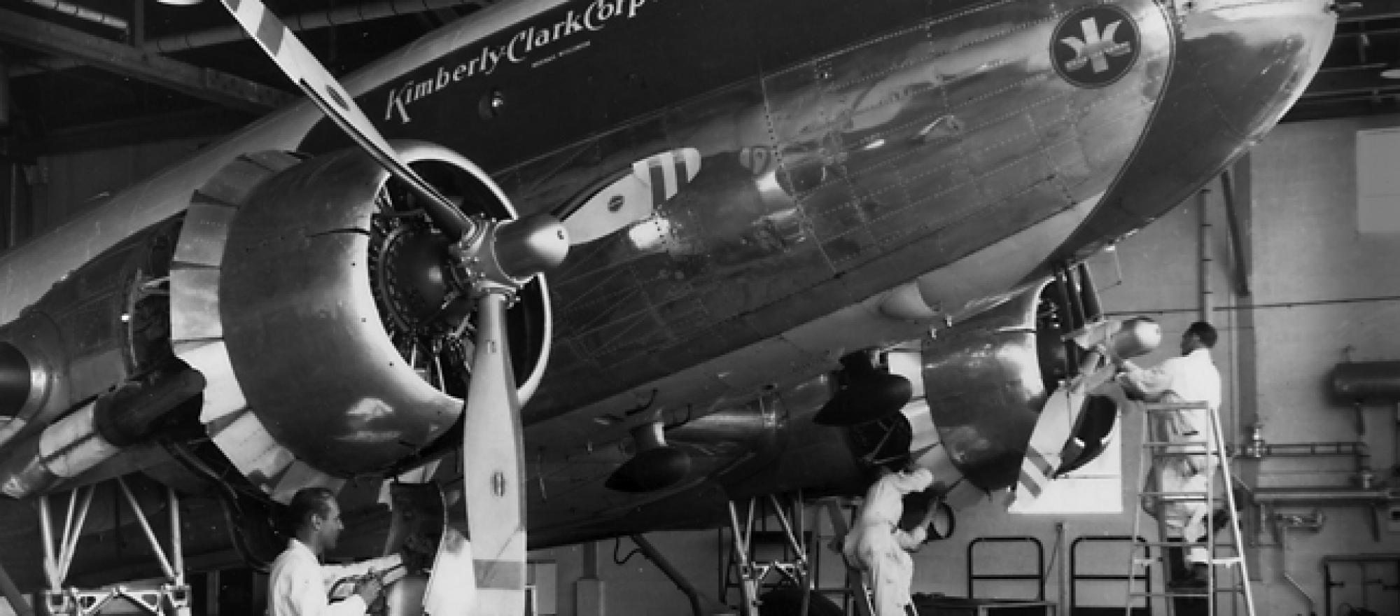 Kimberly-Clark operated the iconic douglas DC-3.