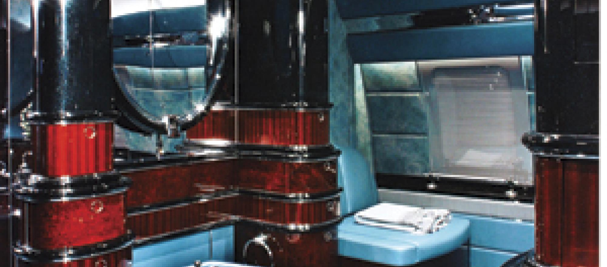 Lavatories on some large jets rival those in high-end homes.