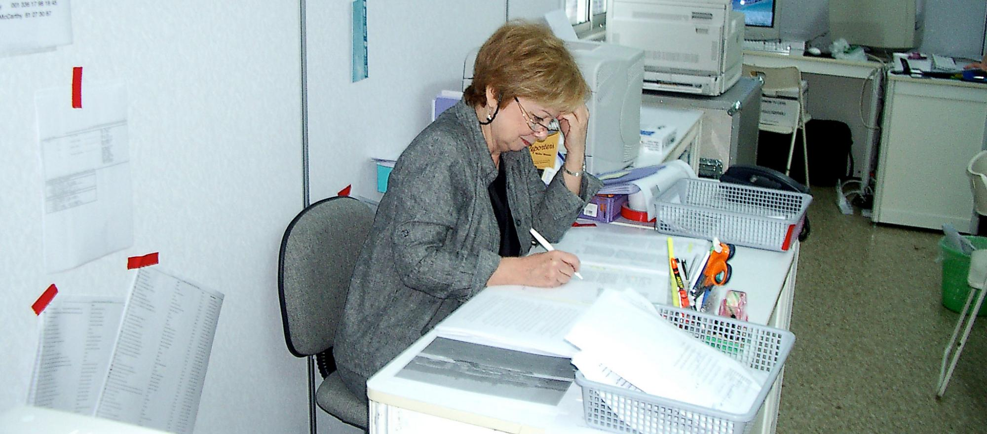 Mary Mahoney working