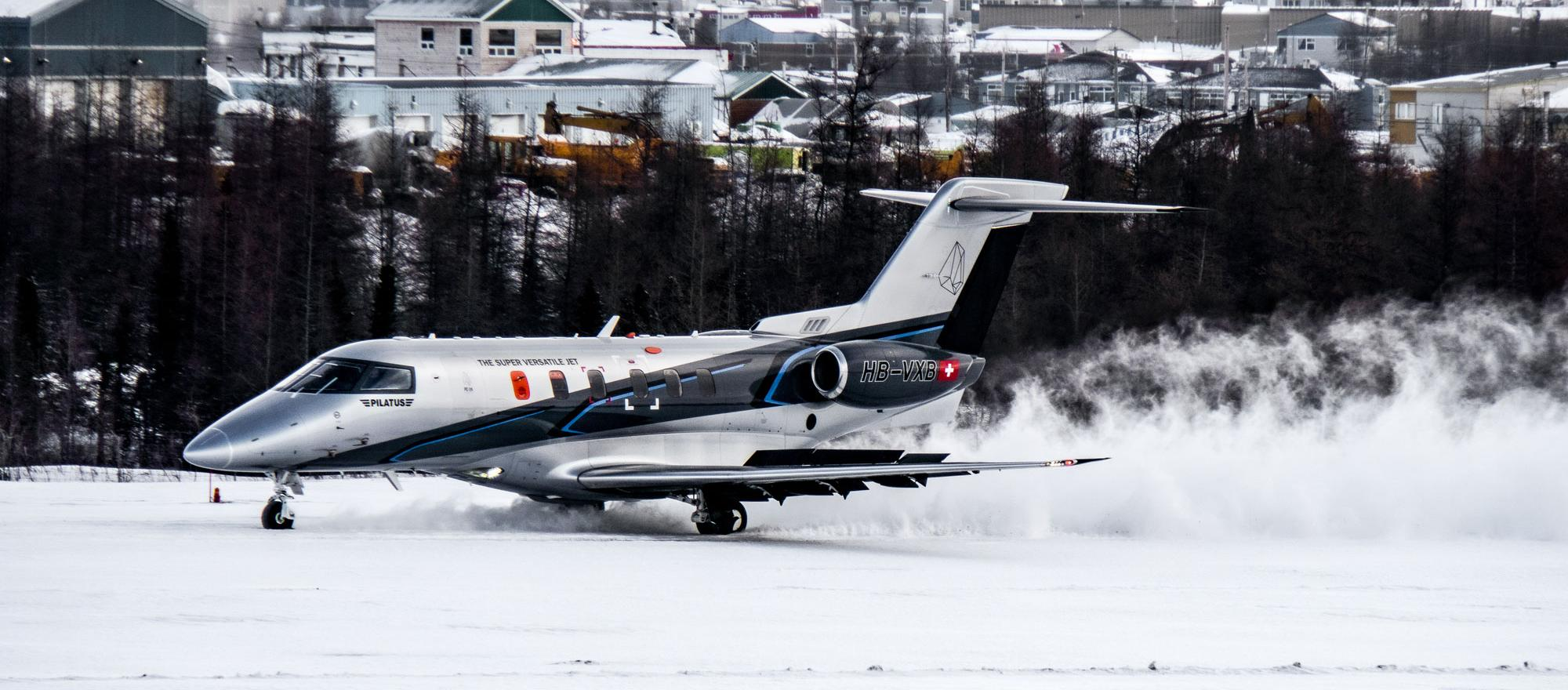 Pilatus PC-24 snow runway testing