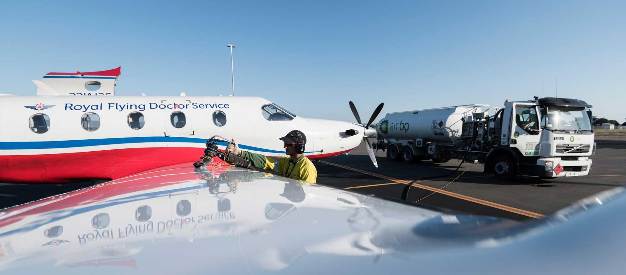 Fueling Royal Flying Doctor Service Aircraft