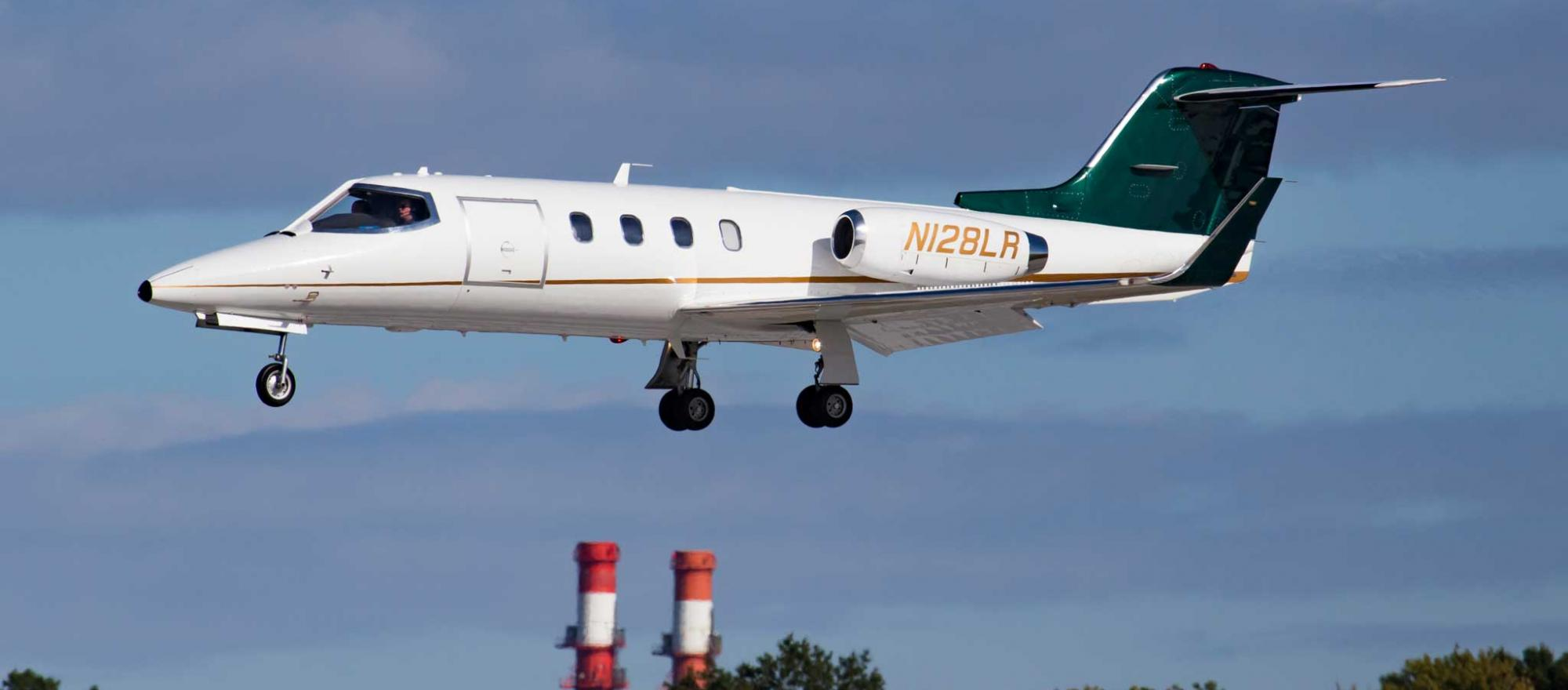 The first Learjet 28