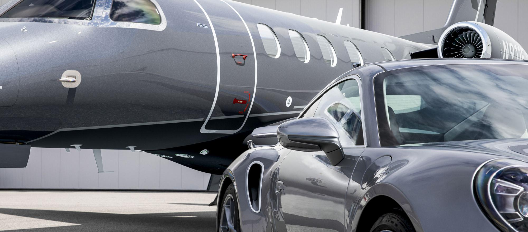"Limited-edition Embraer Phenom 300E and Porsche 911 Turbo S ""Duet"" pairing"