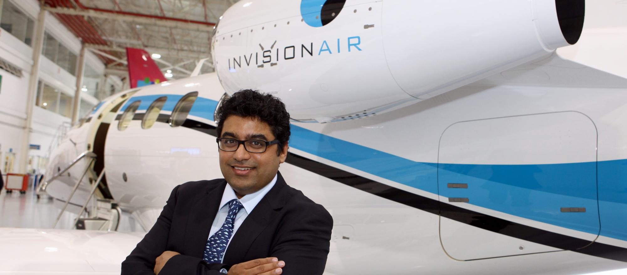 Vinit Phatak, CEO of Invision, which is launching an air charter service in India