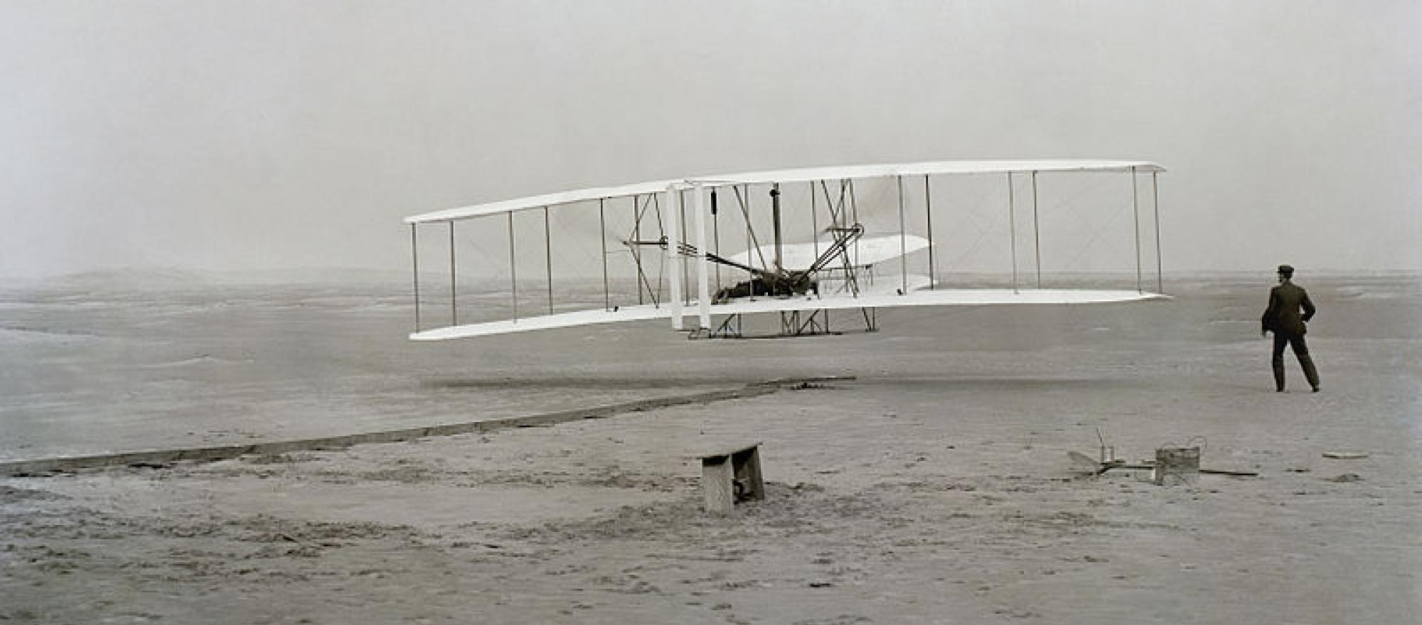 The Wright Brothers take off—only 66 years before Apollo 11.