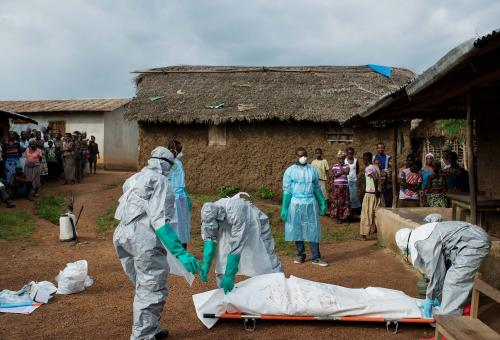 Doctors without Borders, shown here aiding a suspected Ebola victim, is one of the charities recently featured in BJT's Giving Back department.