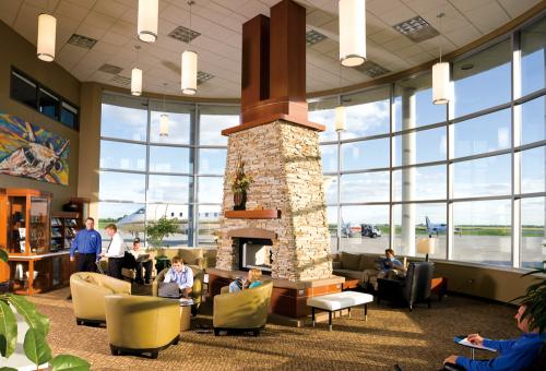 If you're on a business trip, you might consider using the FBO as a temporary office.