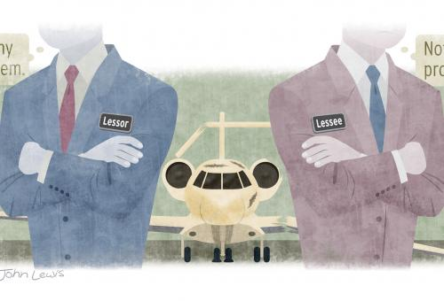 Buyers who face long waits for a new airplane may consider leasing on a short-term basis. (Illustration: John Lewis)