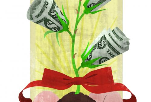 As a charitable trust grows, its annuity will grow. (Illustration: John Lewis)