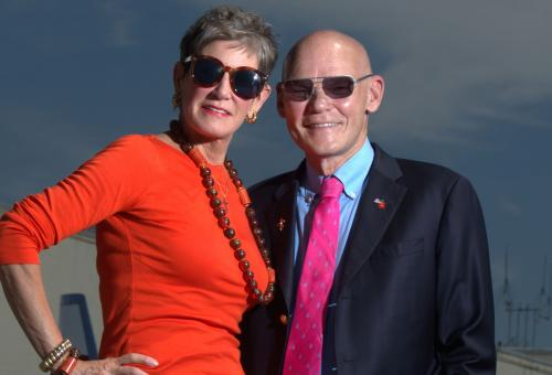 Mary Matalin and James Carville. (Photo: Essdras M. Suarez)