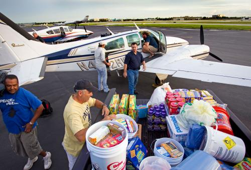 Aviation Industry Hurricane Relief Efforts