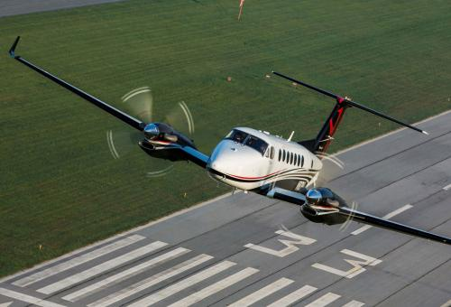 King Air 350 in flight