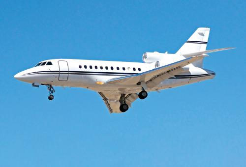 Dassault Falcon 900B in flight