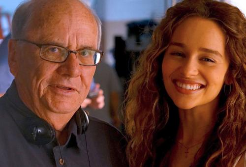 Joe Sharkey, with Emilia Clarke, on the set of Above Suspicion. PHOTO: DON DAMP