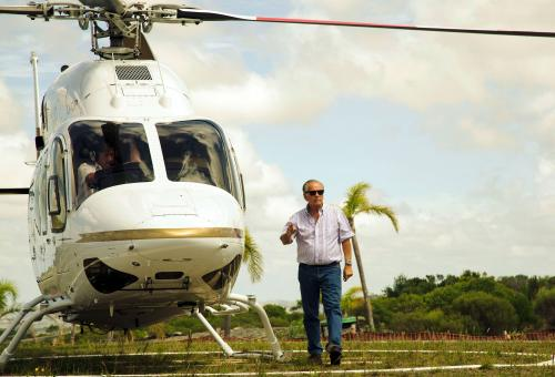 Alejandro Bulgheroni and a helicopter.