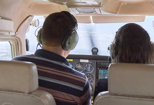 pic of two people in cockpit